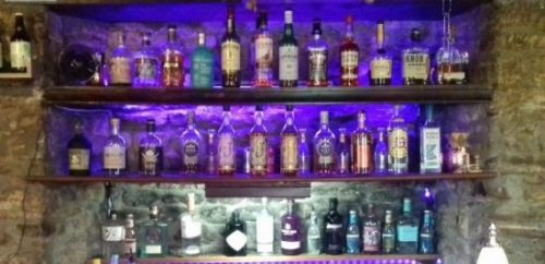 White Hart Inn at Trudoxhill, Near Frome, selection of spirits, liqueurs