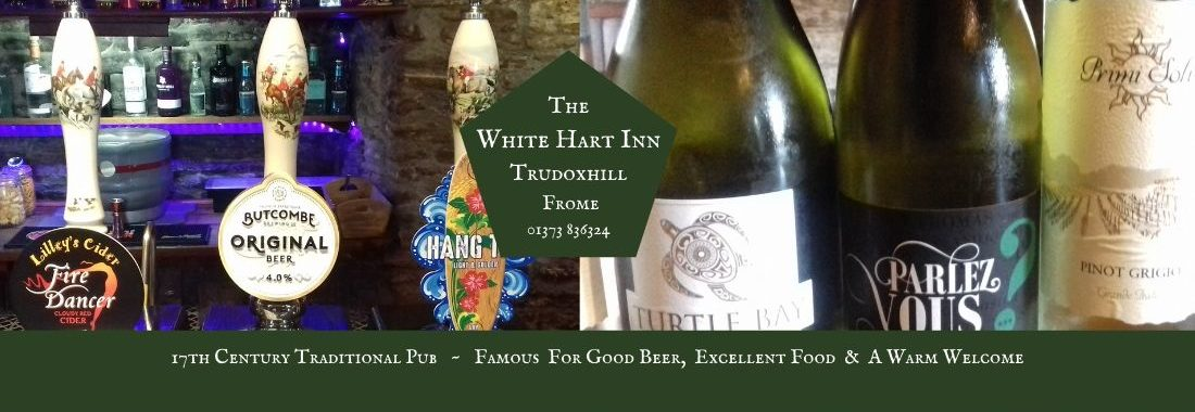 White Hart Inn at Trudoxhill, Near Frome, Traditional 17th century pub