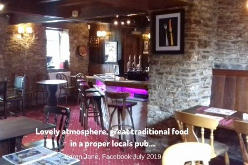 White Hart Inn at Trudoxhill, Near Frome, Traditional 17th century pub famous for good food, good bear and good complany