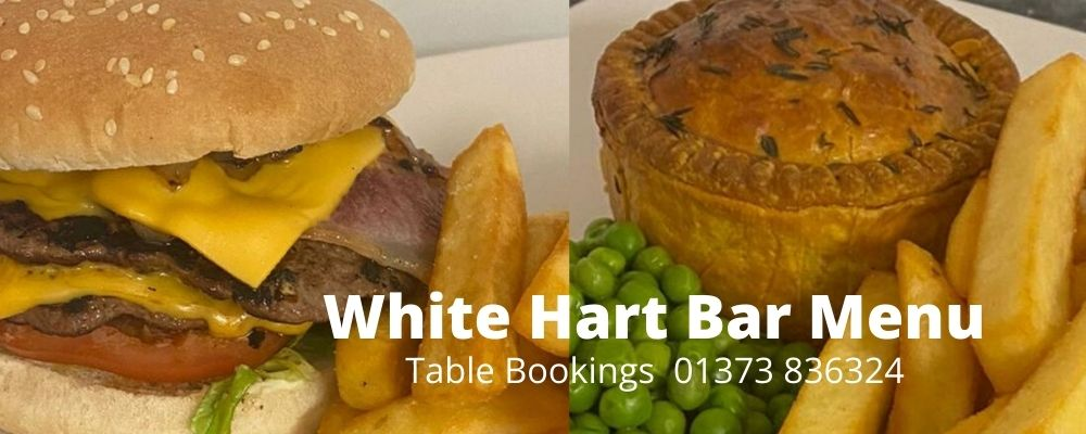 Bar Food Menu from The White Hart Inn, Trudoxhill, Frome