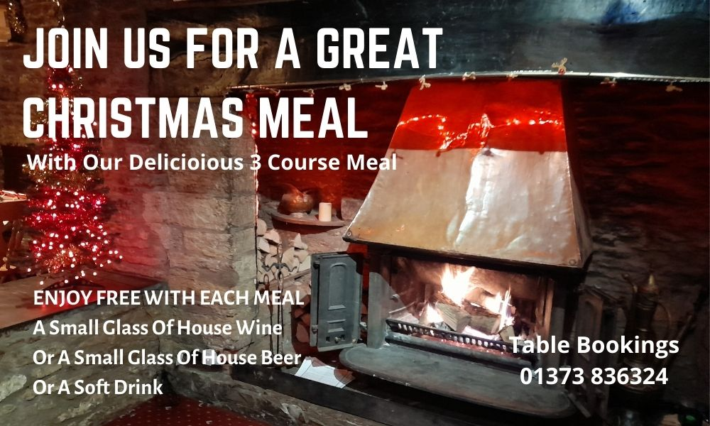 Christmas Menu 2021, The White Hart Inn, Trudoxhill, Frome, famous for good home cooked food and fine drinks